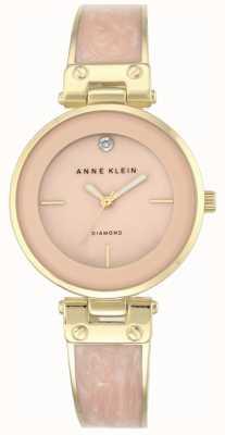 Anne Klein Damska amanda złoty pokrowiec z różową tarczą AK/N2512LPGB