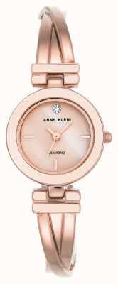 Anne Klein Damska bransoletka z różowym odcieniem złota i tarczą AK/N2622LPRG