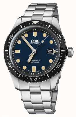 Oris Divers sześćdziesiąt pięć automatyczna niebieska tarcza ze stali nierdzewnej 01 733 7720 4055-07 8 21 18