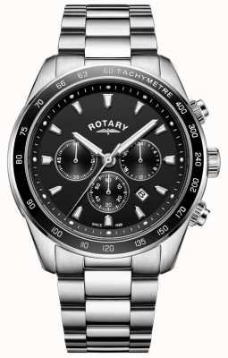 Rotary Zegarek męski ze stali nierdzewnej chronograf henley GB05109/04