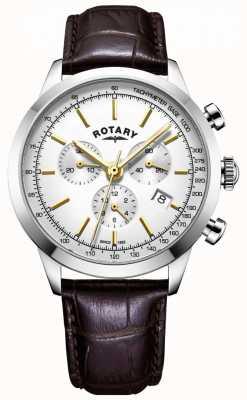 Rotary Męski skórzany zegarek z chronografem GS05253/02