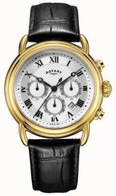 Rotary Męski skórzany zegarek chronografu firmy canterbury GS05333/21