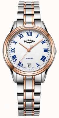 Rotary Damska dwukolorowa bransoleta z różowego złota LB05260/01