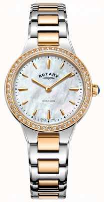 Rotary Zegarek damski Kensington z różowego złota z dwoma odcieniami LB05277/41