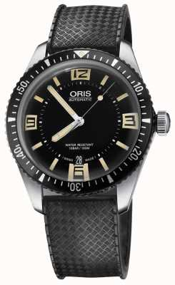 Oris Divers sześćdziesiąt pięć automatyczny gumowy pasek czarna tarcza 01 733 7707 4064-07 4 20 18