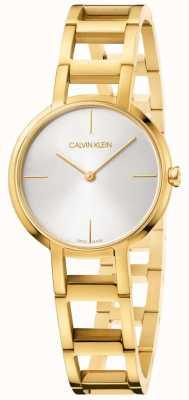 Calvin Klein Panie witają zegarek z żółtego złota K8N23546