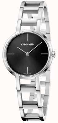 Calvin Klein Panie okrzyki z czarnego zegarka ze stali nierdzewnej K8N23141