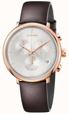 Calvin Klein Męskie wysokie południe w kolorze różowego złota datownik chronograf K8M276G6
