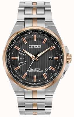 Citizen Męski świat wieczny w stali nierdzewnej i różowym złocie CB0166-54H