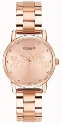 Coach Damska bransoleta z różowo-złotym różem i zegarek 14502977