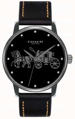 Coach Damska czarna koperta i czarny skórzany pasek 14502974