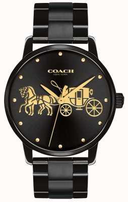 Coach Damska czarna koperta i bransoletka 14502925