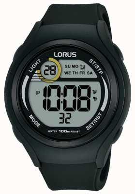 Lorus Unisex sportowy zegarek sportowy z gumy lorus w kolorze czarnym R2373LX9