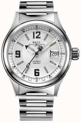 Ball Watch Company Strażak automatyczna bransoletka ze stali nierdzewnej biała tarcza NM2088C-S2J-WHBK
