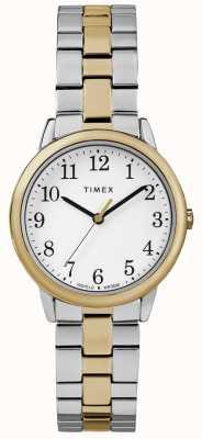 Timex Czytelny zegarek damski ze stali nierdzewnej 30mm TW2R58800