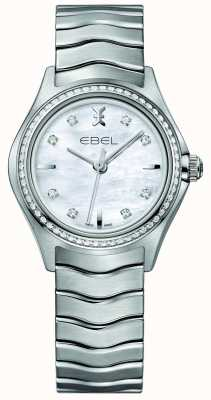 EBEL Zegarek damski Wave Diamond z kwarcem 30mm 1216194