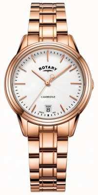 Rotary Zegarek damski cambridge bransoletka z różowego złota LB05262/06