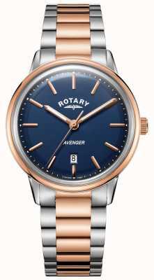 Rotary Zegarek męski Avenger | bransoleta ze stali nierdzewnej | niebieska tarcza | GB05342/05