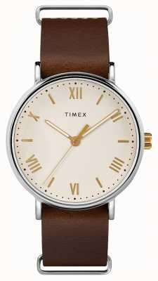 Timex Męskie 41mm southview brązowy skórzany pasek wybierania TW2R80400