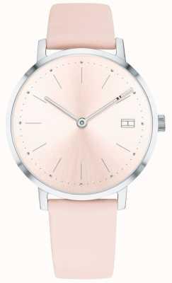 Tommy Hilfiger Damski zegarek z pippy, jasnoróżowy skórzany pasek 1781925