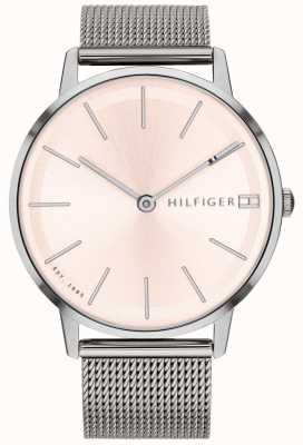 Tommy Hilfiger Damski zegarek typu pippa z srebrnym paskiem 1781935