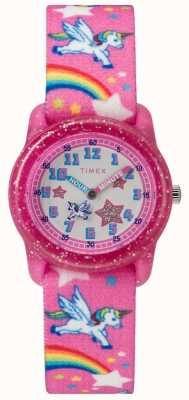 Timex Młodzieżowy analogowy zegarek jednorożca TW7C255004E