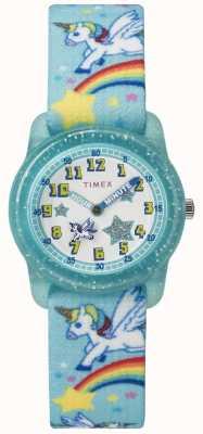 Timex Młodzieżowa analogowa tęcza jednorożec 28mm TW7C256004E
