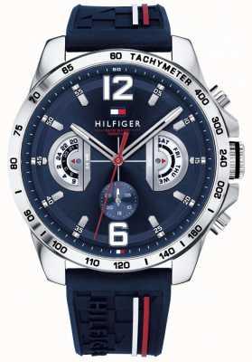 Tommy Hilfiger Męski zegarek na decker niebieski niebieski gumowy pasek 1791476