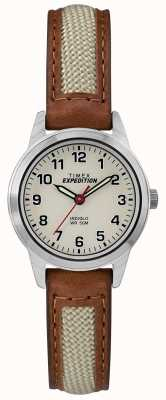 Timex Miniaturowa tarcza z naturalnej skóry naturalnej TW4B11900