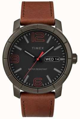 Timex Męski mod 44 skórzany pasek w kolorze czarnym z tarczą TW2R64000