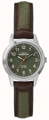 Timex Skórzana zielona tarcza mini do powieszenia TW4B12000