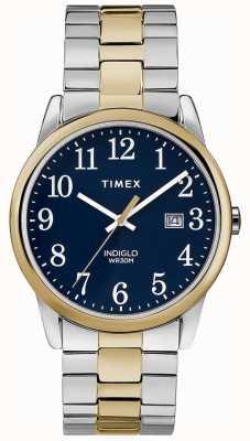 Timex Męskie bransoletki ze stali nierdzewnej o średnicy 38 mm z dwukolorową bransoletą TW2R58500