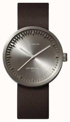 Leff Amsterdam Zegarek do zegarka d38 skórzany pasek ze stali w kolorze brązowym LT71002
