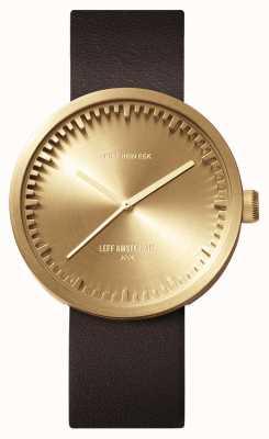 Leff Amsterdam Zegarek do zegarka d42 Brązowy skórzany pasek z mosiądzu LT72022