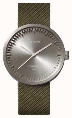 Leff Amsterdam Zegarek do zegarka d42, stalowy, zielony pasek z cordury LT72004