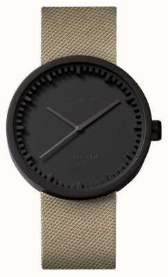 Leff Amsterdam Zegarek na rurkę d42 czarny pokrowiec na piasek z cordury LT72013