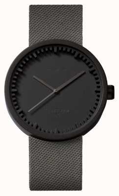 Leff Amsterdam Zegarek na tubkę d42 czarny pokrowiec z szarej sznurówki LT72015