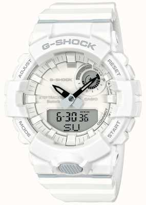 Casio G-shock bluetooth fitness krokowy biały pasek GBA-800-7AER