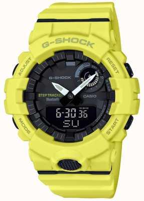 Casio G-shock bluetooth fitness krokomierz żółty pasek GBA-800-9AER
