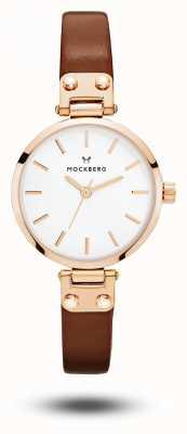 Mockberg Mały biały brązowy pasek Vilde MO209