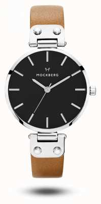 Mockberg Czarna damska czarna tarcza z czarnym paskiem MO112