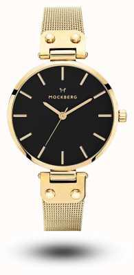 Mockberg Platerowana siatką z czarnej pereł Livia noir MO1603