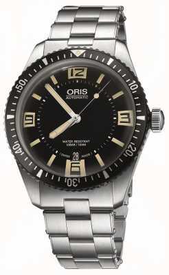Oris Divers sześćdziesiąt pięć automatyczna czarna tarcza ze stali nierdzewnej 01 733 7707 4064-07 8 20 18