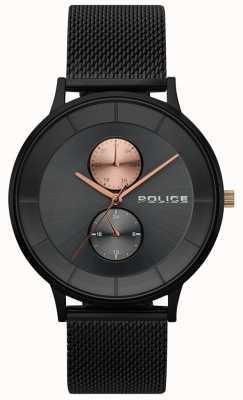 Police Męski zegarek z czarnej berkeley 15402JSB/61MM