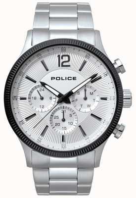 Police Mens feral ze stali nierdzewnej i czarny zegarek 15302JSTB/01M