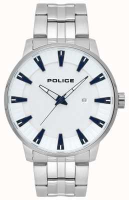Police Męski biały zegarek ze stali nierdzewnej 15391JS/04M