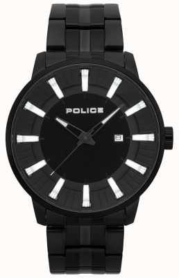 Police Zegarek męski z czarnego patynowanego marmuru 15391JSB/02M