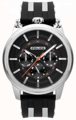 Police Męski zegarek z czarnym gumowym paskiem 15414JS/02P