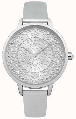 Lipsy Zegarek srebrny damski ze srebra LP570