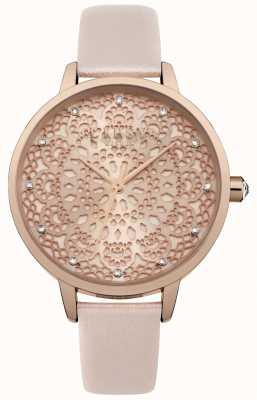 Lipsy Zegarek wybierania damskiego z różowego złota LP571